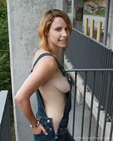 Nude girls in bib overalls