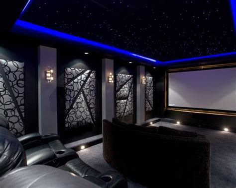 Fiber Optic Lights In Home Theatre-like The Artwork And