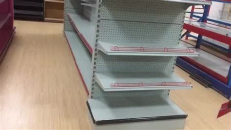 5 Layer Steady Steel Supermarket Shelf With Single End