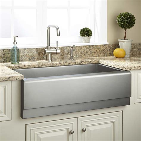 33 Archer Stainless Steel Farmhouse Sink Beveled Apron