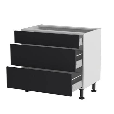 meuble cuisine a tiroir meuble cuisine bas 90cm 1 tiroir 2 casseroliers achat