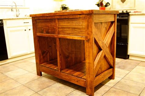 ana white modified rustic  kitchen island diy projects