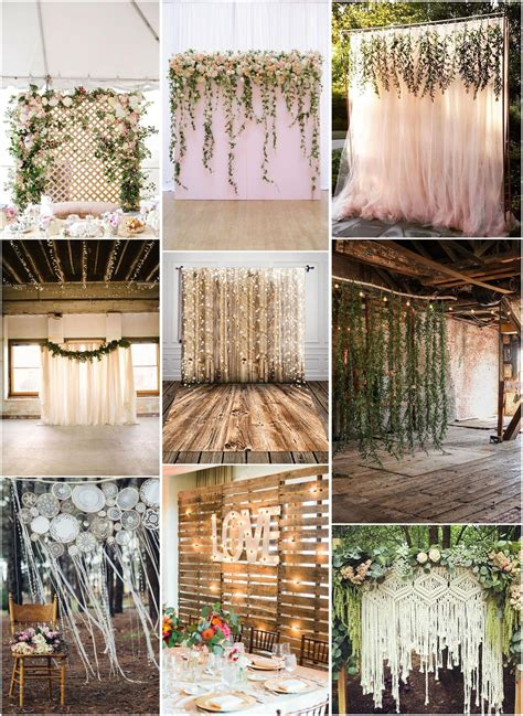 30 Unique and Breathtaking Wedding Backdrop Ideas Rustic