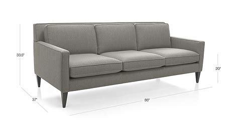 rochelle mid century modern sofa crate and barrel