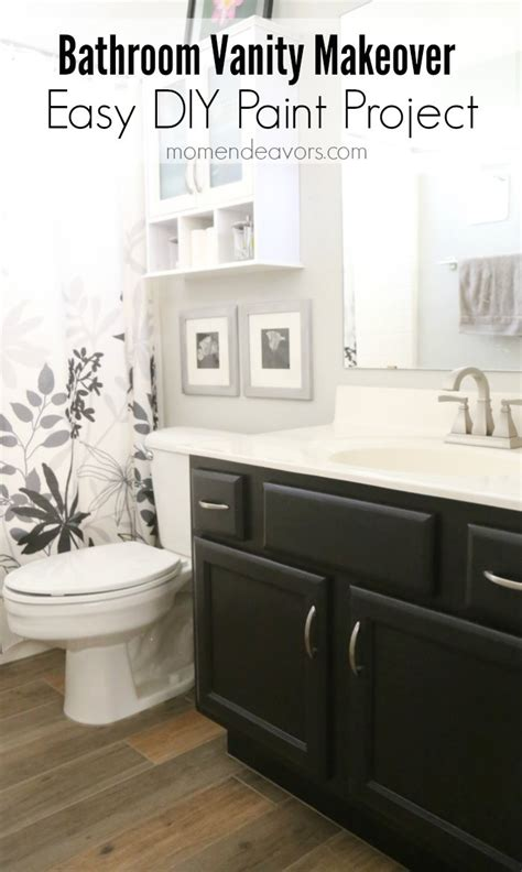 Bathroom Cabinet Makeover Ideas by Bathroom Vanity Makeover Easy Diy Home Paint Project