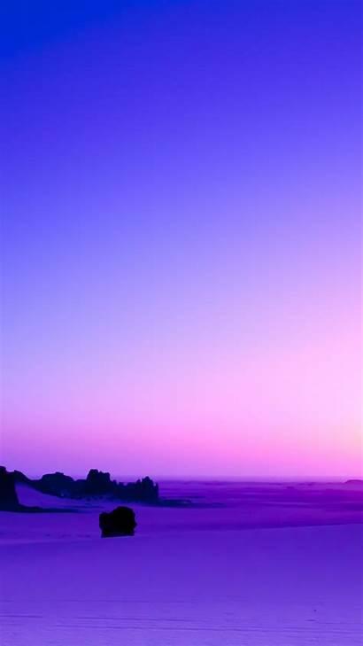 Purple Sunset Landscape Skyline Desert Lenovo Vibe