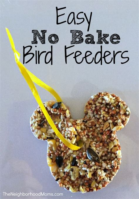 bird feeder craft for preschoolers easy no bake bird feeders the neighborhood 254