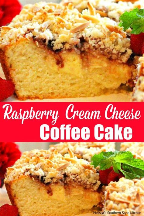 Classic buttery coffee cake holds it all together. Raspberry Cream Cheese Coffee Cake - melissassouthernstylekitchen.com