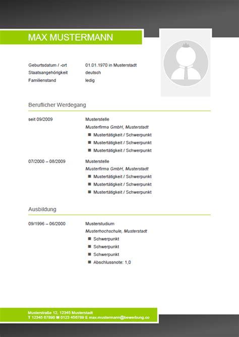 Vorlage Lebenslauf Bewerbung by Muster 20 Bewerbung Co