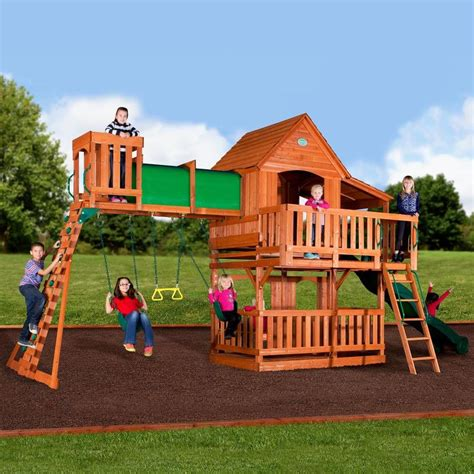 Backyard Play Set by Backyard Discovery Woodridge Ii Residential Wood Playset