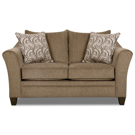 Simmons Loveseat Recliner by Simmons Upholstery 6485 Transitional Loveseat With Flared