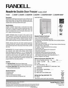 Download Free Pdf For Randell 2020fm Freezer Manual