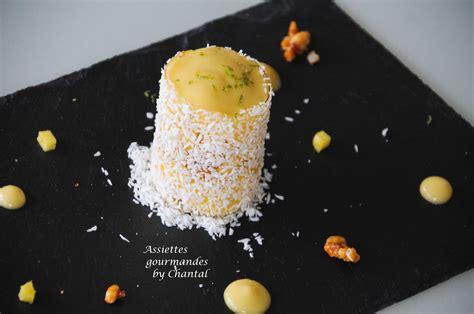 recette de cuisine gastronomique christelle brua recette dessert cylindre mangue coco
