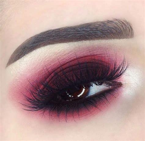 maroon smokey eye eyeshadow  pinterest eyes