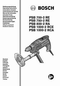 Notice Bosch Psb 700-2 Re