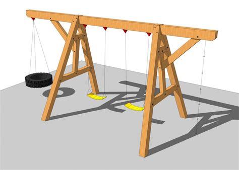 timber frame swing set plan wood swing set plans