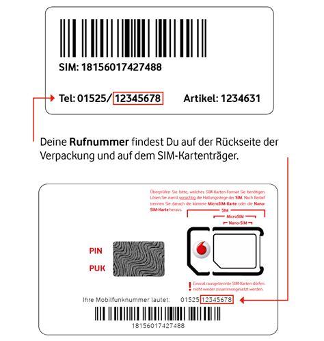 Vodafone Sim Karte Vertrag