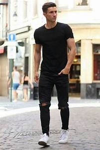 14 Coolest All Black Casual Outfit Ideas For Men | Black ...