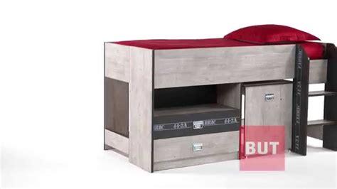 lit combiné armoire bureau lit combiné bureau 90x190 cm authentique fabric but
