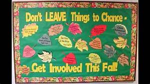 Fall bulletin board idea decoratings for teachers - YouTube