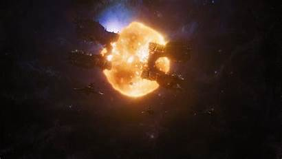 Marvel Spaceships Avengers Space Explosions Screenshots Wallpapers