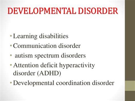 developmental disorder