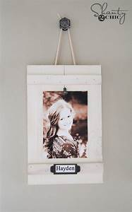 DIY Hanging Frames with Labels - Shanty 2 Chic