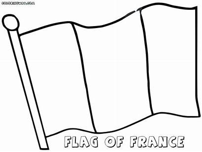 Flag French Coloring Pages France Drawing Flags