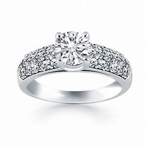 wedding rings with diamonds With wide band wedding rings for her
