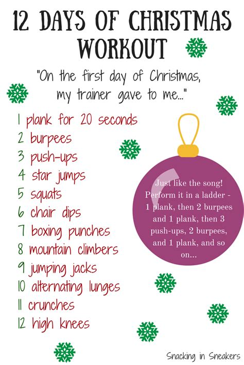 The 12 Days Of Christmas Workout  Eat Smart, Move More, Weigh Less
