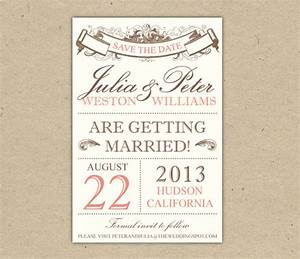 7 best images of save the date templates printable diy for Free vintage save the date templates