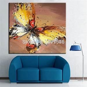 Gemälde Für Wohnzimmer : 100 handgemalte abstrakte kunst lgem lde schmetterling sch ne tier gem lde auf leinwand ~ Markanthonyermac.com Haus und Dekorationen