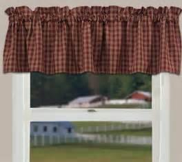 Kitchen Valance Curtains by Country Curtain Valance Sturbridge Wine Primitive