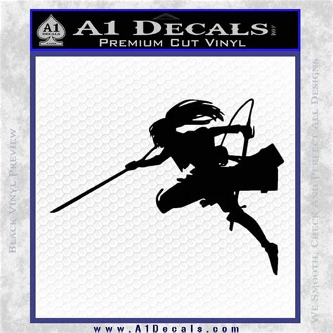 attack on titan blouse silhouette decal sticker