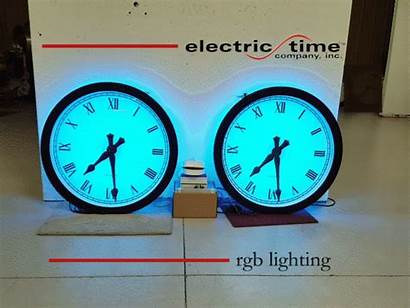 Clock Tower Changing Rgb 2400 Clocks Backlighted