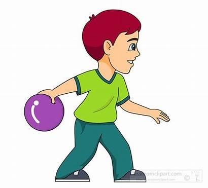 Ball Bowling Clipart Roll Clip Bowler Sports