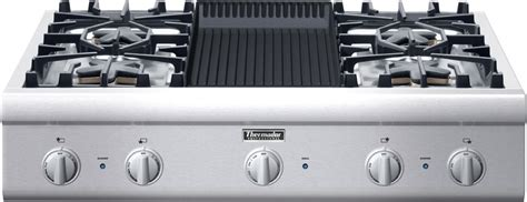 thermador pcgel   gas cooktop  star burners   extralow simmer settings
