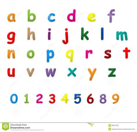 English Letters A To Z Stock Illustration Image Of