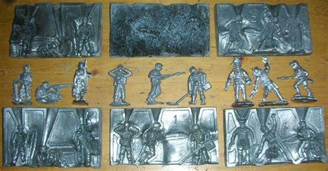 lead molds lead casting set soldier molds lead