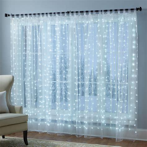 curtain sheers the illuminated sheers hammacher schlemmer