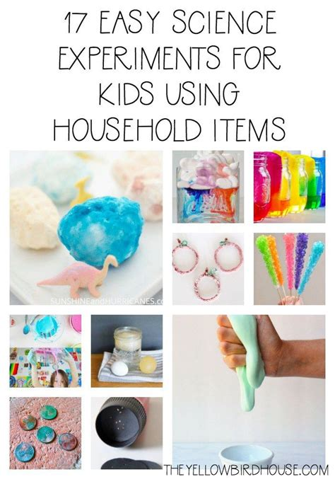 easy science experiments  kids  household items