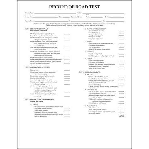 record  road test