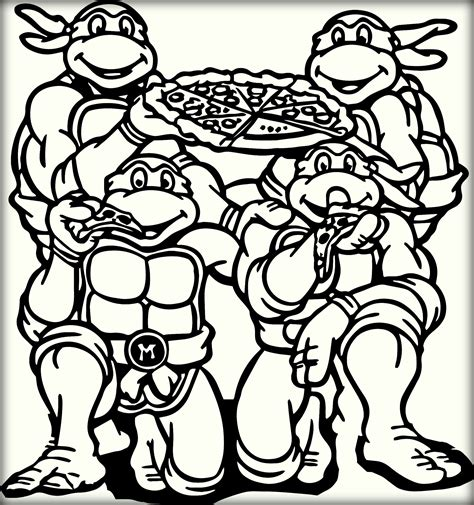31 Ninja Turtles Free Printable Coloring Pages Teenage