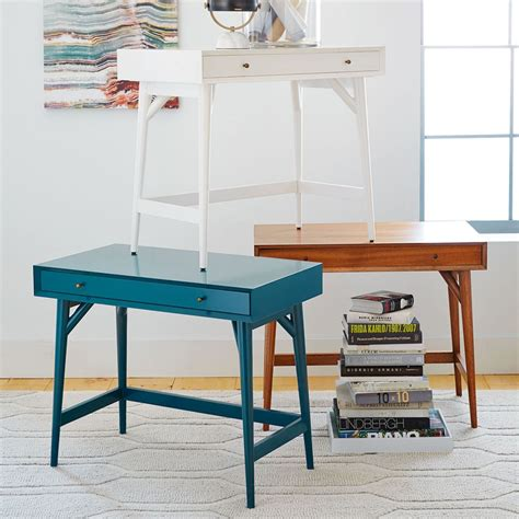 west elm desk mid century mini desk white west elm australia