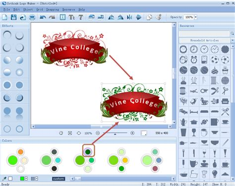 how to make a badge with logo by clicks