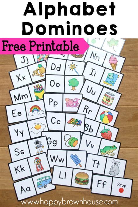 alphabet dominoes busy bag printable alphabet busy bags