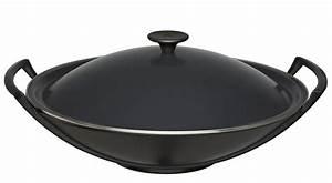 Kochen Mit Induktion : homann schenken kochen wohnen le creuset wok gusseisen 5 teilig schwarz induktion ~ Watch28wear.com Haus und Dekorationen