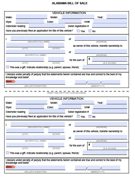 Florida Boat Bill Of Sale Itemized by Best Photos Of Bill Of Sale Form Alabama Alabama Vehicle