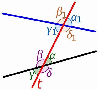 Transversal Svg Geometry Angles Line Between Lines