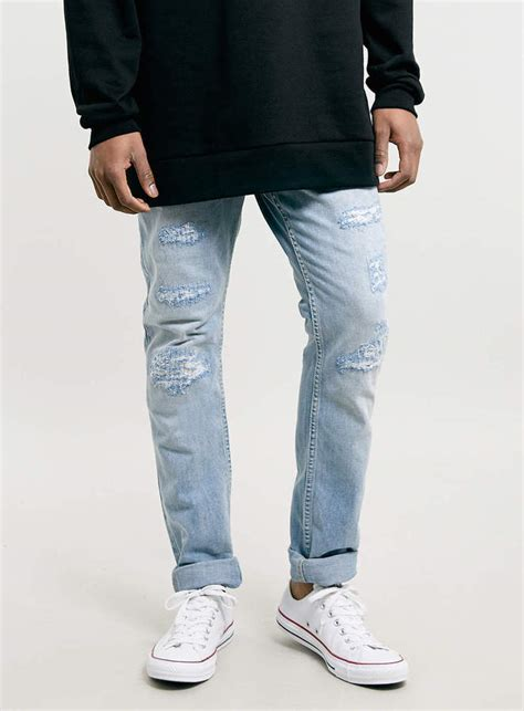 Topman Light Wash Ripped Skinny Jeans | Where to buy u0026 How to wear